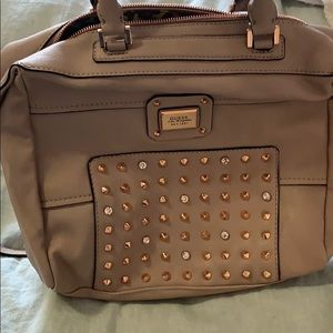 Guess studded faux leather handbag